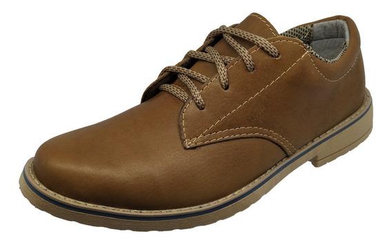 Sapato Esportivo Couro Legitimo Casual Masculino De Amarrar