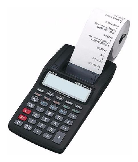 Calculadora Bobina Casio Hr 8 + Fonte De Alimentação + Nota