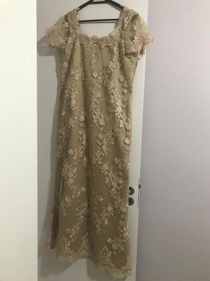 Vestido Longo De Renda
