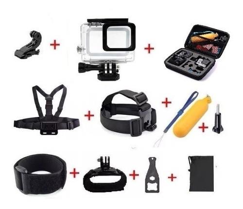 Gopro Kit Acessórios Câmera Hero 5 6 7 Black + Bolsa