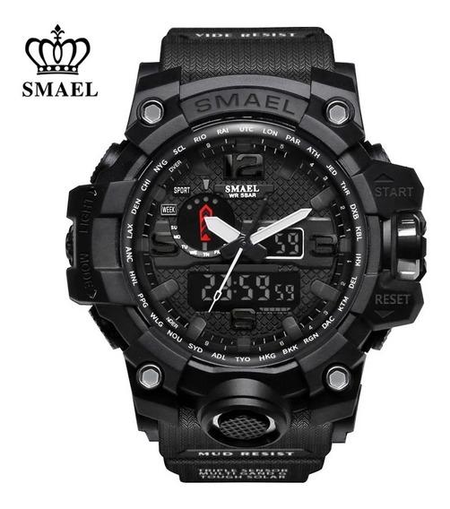 Relógio Analógico Digital Smael 1545 Original Militar Tático