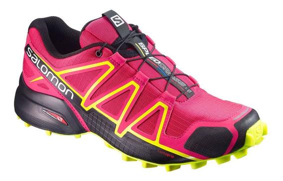 Tênis Salomon Speedcross 4 Fem - Pink/amarelo