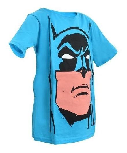 Playera Cara De Batman Azul Niño