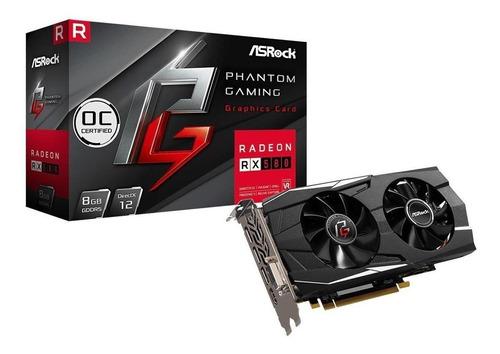 Imagem 1 de 2 de Amd Asrock  Phantom Gaming D Radeon Rx 580 Pg Oc Edition 8gb