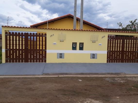 Casa Nova R$ 165 Mil Lado Praia Em Itanhaém