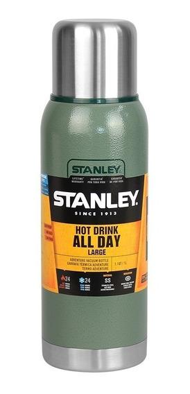 Garrafa Térmica Stanley Adventure Green Quente Frio 1 Litro