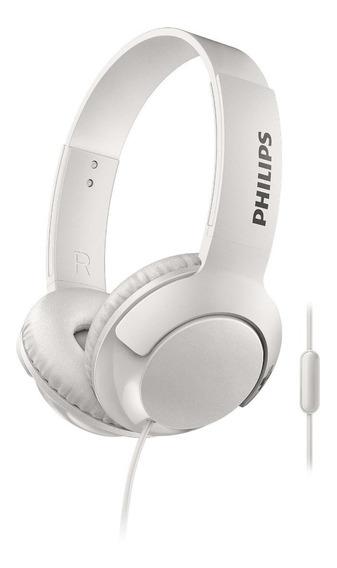 Fone De Ouvido Philips Bass+ Cabo De 1,2m Branco Shl3075wt