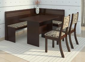 Conjunto Canto Alemão Mesa Com 2 Cadeiras Scan Siena Dc