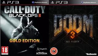 Call Of Duty Black Ops 2 Gold En Español + Doom 3 2 Y 1 Ps3