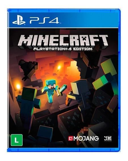 Jogo Minecraft Playsation 4 Edição Ps4 Mídia Física Usado