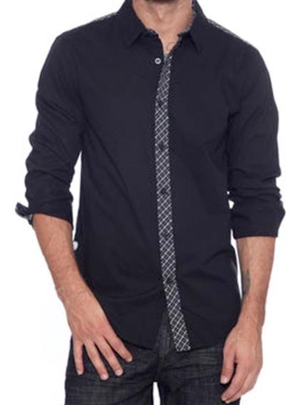 Remate Camisa Guess Fashion Slim Fit Fiesta Shirt T L C225