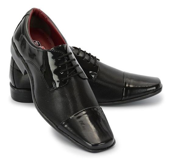 Sapato Social Masculino Em Verniz Ref:801