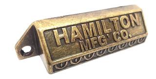 Manija Tirador Cubeta Hamilton Vintage Cajon Cocina Bronce