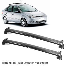 Rack De Teto Bagageiro Fiesta Sedan 03 A 13 Eqmax 6123 Preto