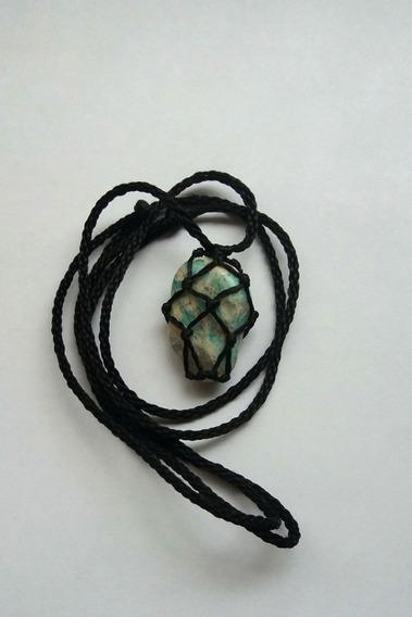 Colar De Pedra Castroada Amazonita
