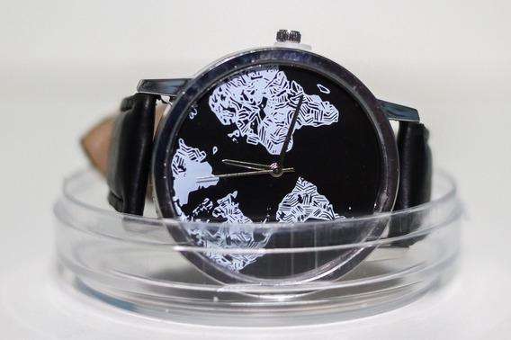 Relógio Mapa Mundi Detalhes