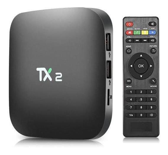 Tv Box Tanix Tx2 Padrão 4k 16gb Preto Com Memória Ram De 2gb