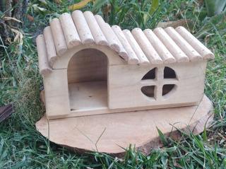 Casa De Madera Para Conejo ,hamnster, Ardilla