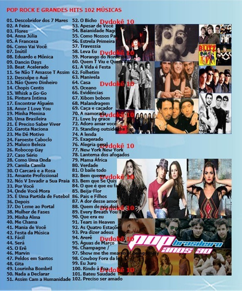 7 Dvds Musicas Karaokê Pop Rock Mpb Sertanejo