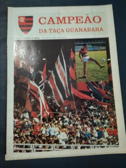 Flamengo - Pôster Campeão Taça Guanabara 84 - Jornal Brasil