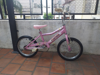Bicicleta Fisher Rodado 16 Paseo Rosa Lista Para Usar