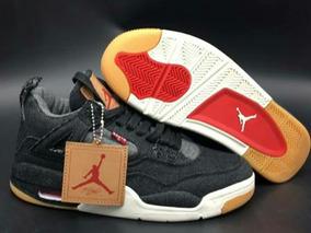 Tenis Nike Air Jordan 4 Retro Levis Black Original