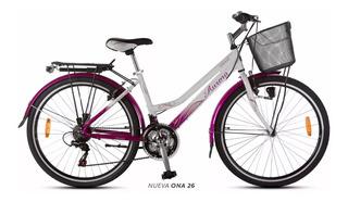 Bicicleta Paseo Dama Aurora Ona 26 Aurorita Cuadro Bajo