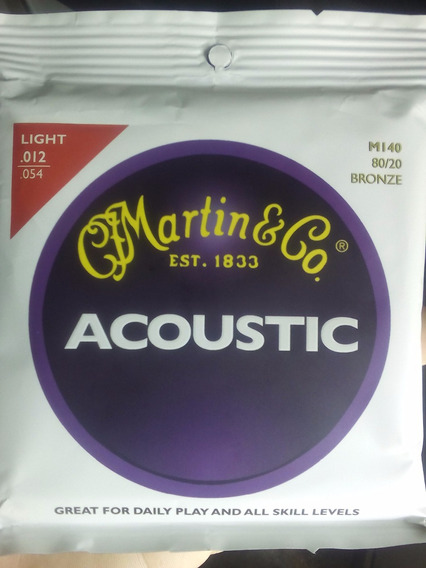 Cuerdas Martin & Co. Light 0.12 - 0.54 Guitarra Acustica