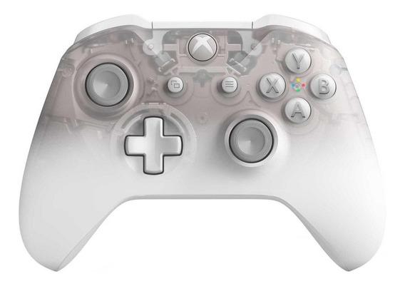 Controle joystick Microsoft Xbox One phantom white special edition