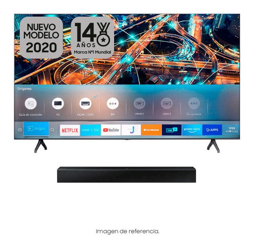 Combo Tv Samsung 55  55tu6900 + Base De Brazo Para Pared