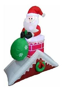 Adorno De Navidad Papa Noe Sobre Chimenea 1800680