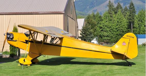 Planta Avião Piper J-3 Escala Real Projeto Detalhado