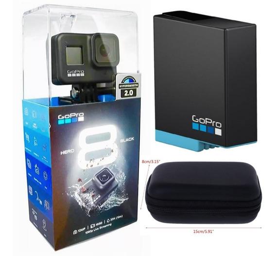 Camera Gopro Hero 8 Black + Bateria Extra Original + Case