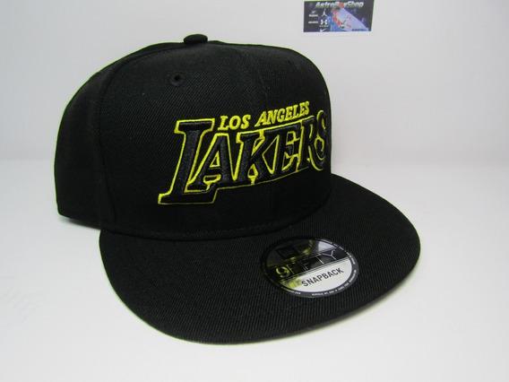 Gorra Plana New Era Lakers Black Edition Unitalla