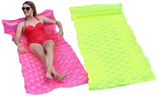 Sunsplash Smart Float Para Piscinas Rosa Y Amarillo 2pack