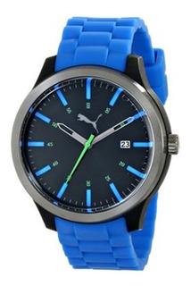 Reloj Puma Pu103612004 Silicona Sumergible Con Fecha