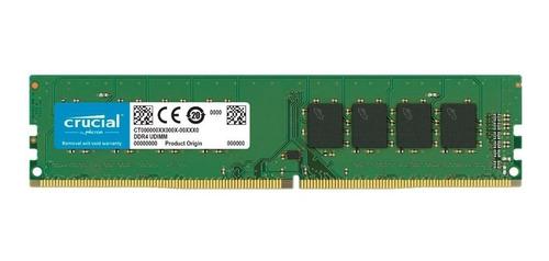 Imagem 1 de 1 de Memória Crucial 16gb Ddr4 2666 Udimm Desktop Ct16g4dfra266