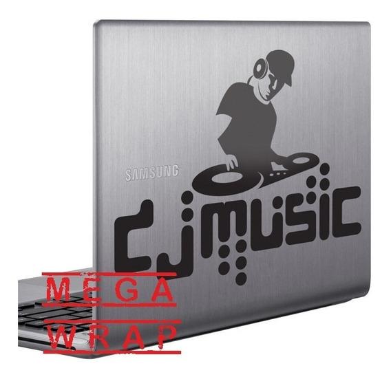 Vinilo Decorativo Notebook Tablet Dj Music. Calco Notebook