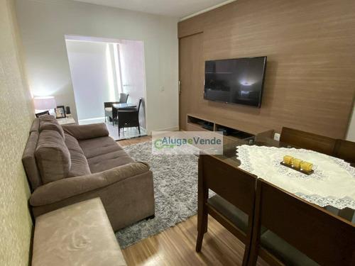 Apartamento Com 2 Dormitórios À Venda, Lazer Completo E 1 Vaga De Garagem, 52 M² Por R$ 330.000 - Vila Augusta - Guarulhos/sp - Ap0227