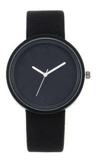 Reloj Pulsera Niña Fashion Analógico Agujas Negro Caja Elabo