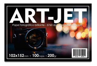 Papel Fotográfico 10x15 Glossy Brillante Art-jet® 100h 200gr