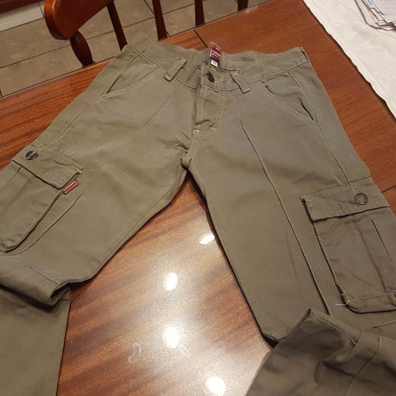 Pantalon Cargo Law Verde Musgo Talle Xs