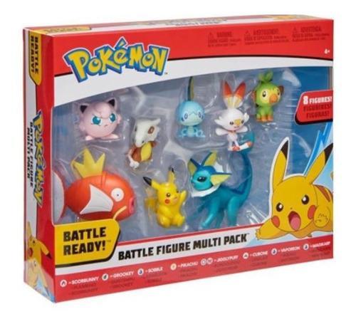 Imagem 1 de 4 de Pokémon Multipack 8 Figuras De Batalha - Bonecos - Wct Sunny