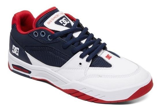 Zapatillas Dc Shoes Mod Maswell Azul Rojo Coleccion 2020