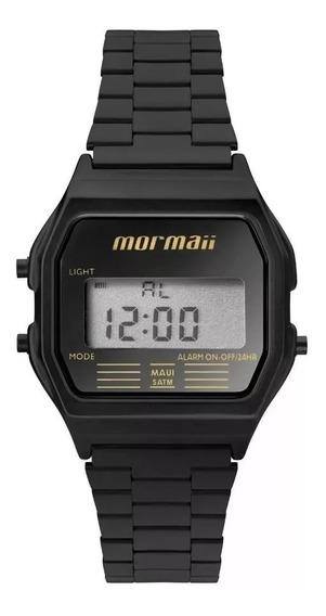 Relógio Mormaii Preto Mojh02aj/4p Quadrado Prova D