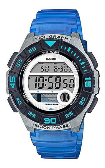 Reloj Casio Dama Lws-1100h-2av, Fase Lunar, Mareas, Luz
