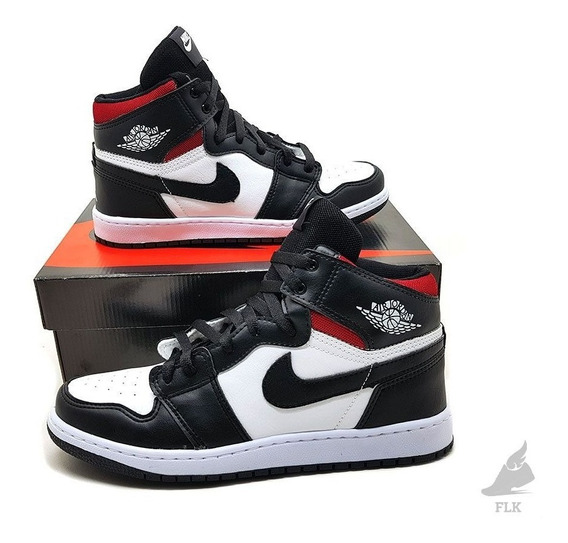 Tênis Cano Alto De Basquete Air Jordan 1 Chicago Retro