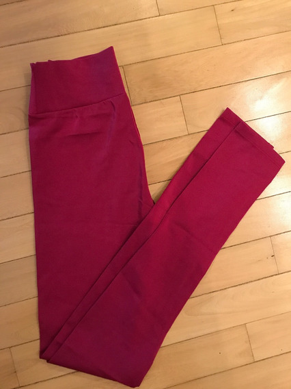 Calzas Legging Lycra Complot Pantalon Brodo Rojo Uva Chupin