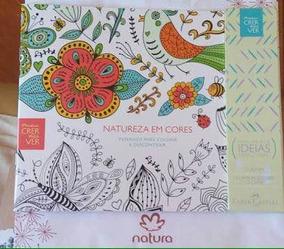 2 Livro P/ Colorir Natura Caixa Lapis Faber Castel