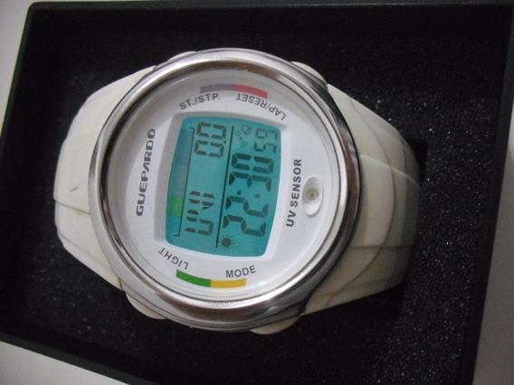 Relogio Guepardo Branco Sensor Uv Usado Bom Estado